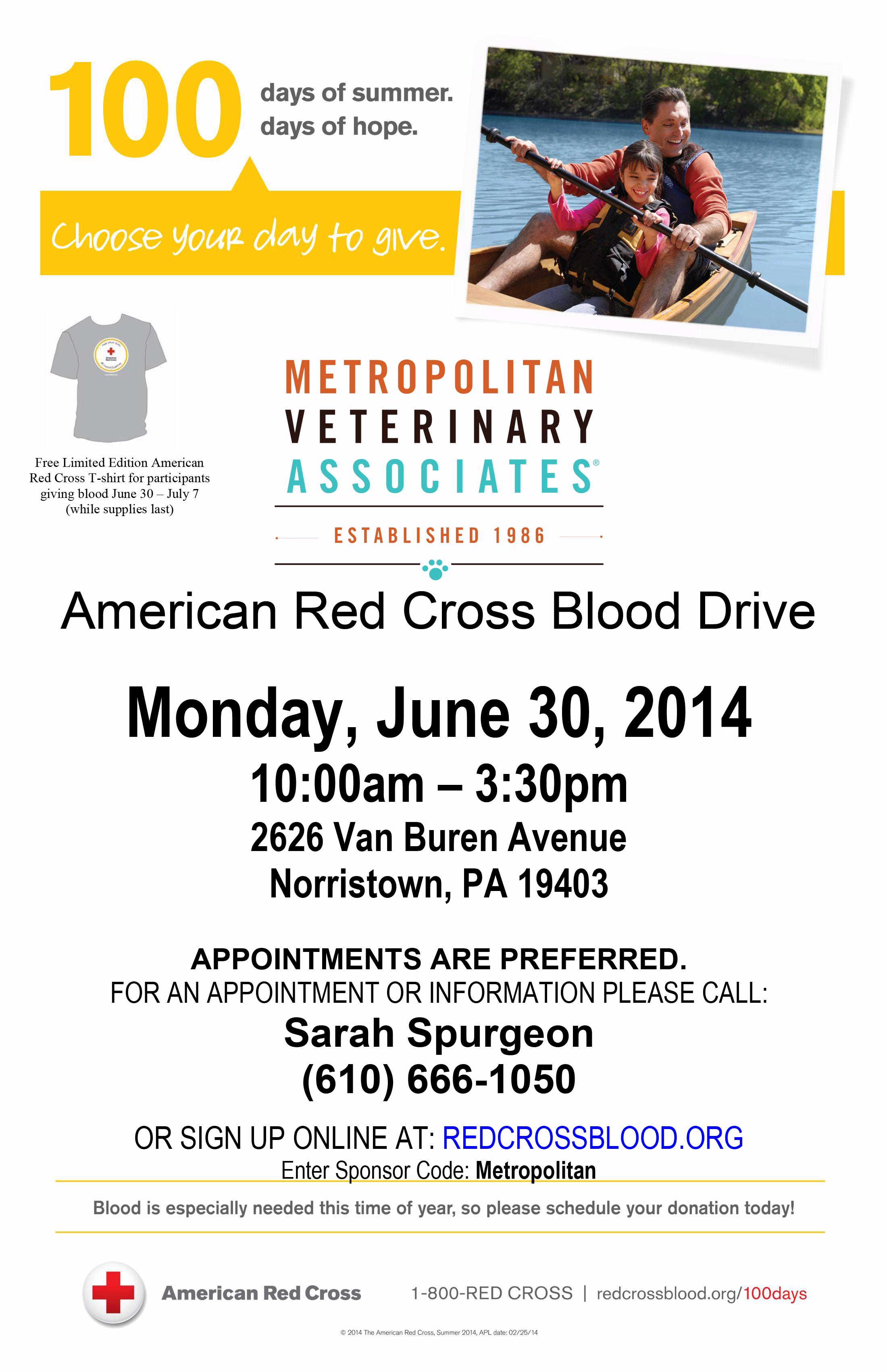 American Red Cross Blood Drive - Metropolitan Veterinary Associates